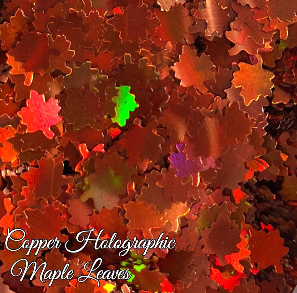 Copper Holographic Maple Leaves